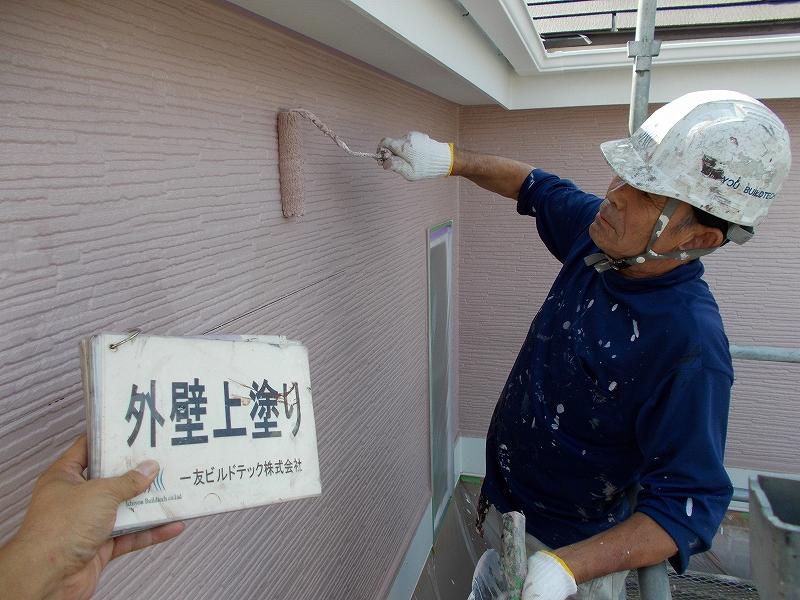 20190322K様邸④外壁2階 上塗り