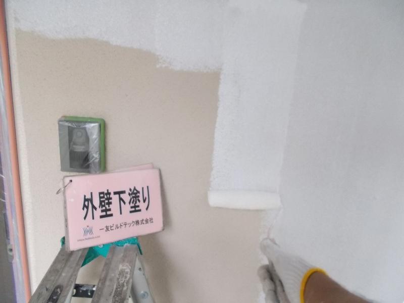 20190503T様邸③外壁 下塗り