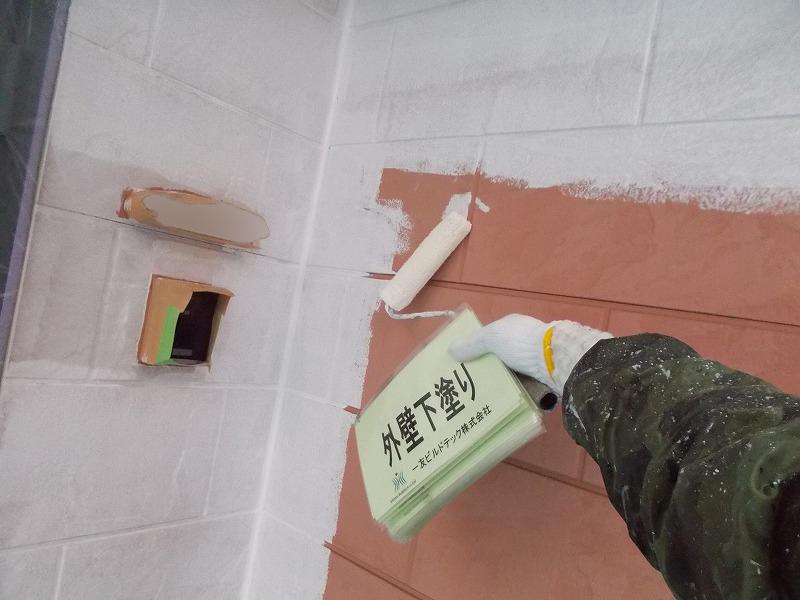 20190719K様邸③1階外壁 下塗り